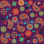 Pasileys Have A Party Seamless Vector Pattern Design