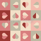 Soft Heart Seamless Vector Pattern Design