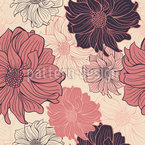 Delicate Dahlia Seamless Vector Pattern Design