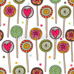 I Love Lollies Seamless Vector Pattern Design