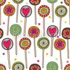 Ich Liebe Lollies Nahtloses Muster