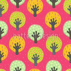 Fruit Orchard Seamless Vector Pattern Design