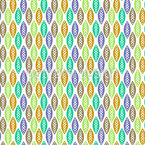 Leaves In Navaho Forest Seamless Pattern
