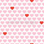 My Valentine Heart Repeating Pattern