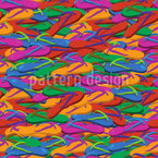 Flip Flop Seamless Vector Pattern Design