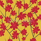 Flora Im Abendrot Nahtloses Vektor Muster