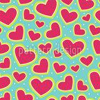 Ich Bin So Wild Nach Deinem Erdbeer Herz Nahtloses Vektormuster