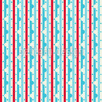 Dewdrop On Stripe Seamless Vector Pattern Design