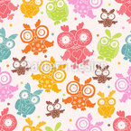 Owls Attempt To Fly Seamless Vector Pattern Design
