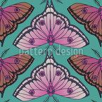 Moth Fantasy Seamless Vector Pattern Design