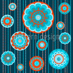 Floret In Chains Seamless Vector Pattern Design