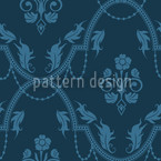 Rocko Azur Seamless Vector Pattern Design