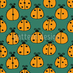 Counting Ladybugs Seamless Vector Pattern Design