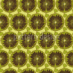 Overripe Sunflowers Seamless Vector Pattern