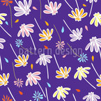 Flowers In The Wind Vector Design