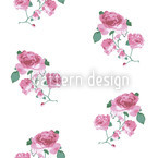 English Tea Roses Motif Vectoriel Sans Couture