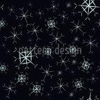 Glitzernde Schneeflocken Nahtloses Muster