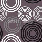 Redondo Retro Design de padrão vetorial sem costura