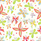 Patchwork Schmetterlinge Nahtloses Vektormuster
