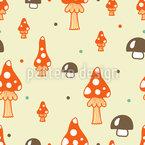 Die Pilze Stehen Im Walde Nahtloses Vektormuster