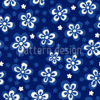 Flowers And Pixels Seamless Vector Pattern Design