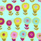 Flower And Water Seamless Vector Pattern Design