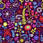 Sommerblumen Magie Nahtloses Vektormuster