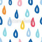 Im Regen Nahtloses Vektormuster