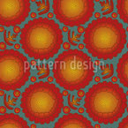 Marigold Flowers Vector Pattern
