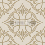 Renaissance In Beige Seamless Vector Pattern Design