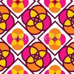 花タイル シームレスなベクトルパターン設計