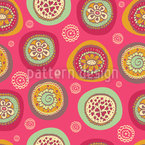 Blooming Circles Seamless Vector Pattern Design