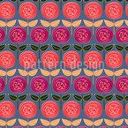 ローズのバラ シームレスなベクトルパターン設計