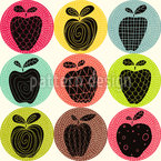 An Apple A Day Seamless Vector Pattern Design