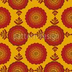 Marigold Blumen Musterdesign