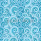 Wavy Fantasy Seamless Vector Pattern Design