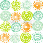 Sunshine Doilies Seamless Vector Pattern Design