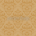 Golden Baroque Seamless Vector Pattern Design