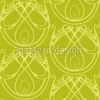 Elegância Art Nouveau Design de padrão vetorial sem costura