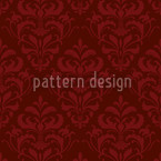 Red French Baroque Seamless Vector Pattern Design
