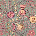 Geheimnisse Im Vintage Garten Nahtloses Muster