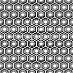 Florale Honigwaben Rapportiertes Design
