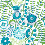Secrets in the spring garden Seamless Vector Pattern Design