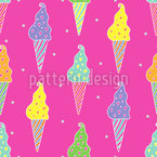 Creemee With Love Seamless Vector Pattern Design