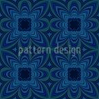 Nachtblumen Kaleidoskop Nahtloses Muster