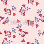 Streublumen Auf Rosa Nahtloses Vektormuster