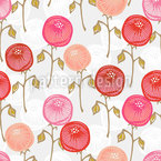 Antigua Floral Seamless Vector Pattern Design