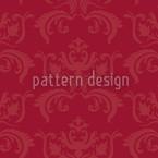ポルトス・バロック・レッド シームレスなベクトルパターン設計