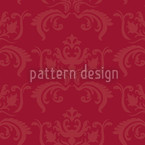 Portos Baroque Red Seamless Vector Pattern Design