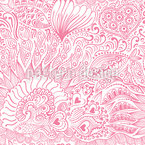 Reef garden romance Seamless Vector Pattern Design